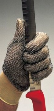 .Stainless Steel Chainmail Glove - a